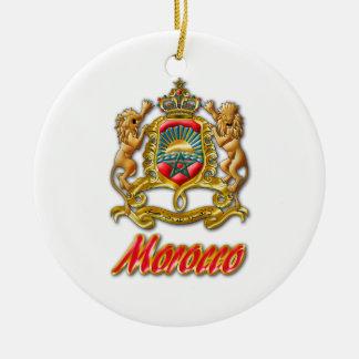 Morocco Coat of Arms Ceramic Ornament