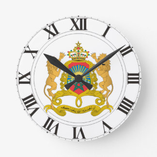 Morocco Coat of Arms Clock