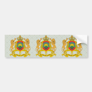Morocco Coat of Arms detail Car Bumper Sticker
