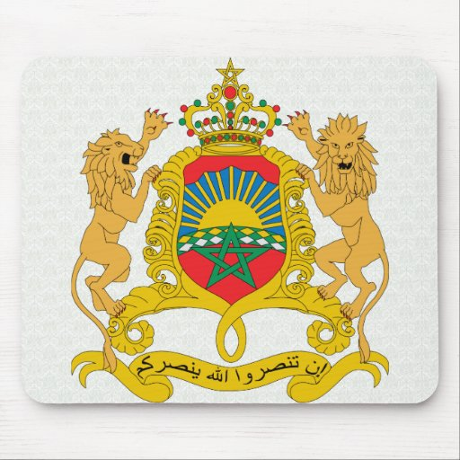 Morocco Coat of Arms detail Mousepad