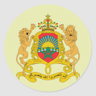 Morocco Coat of Arms detail Classic Round Sticker
