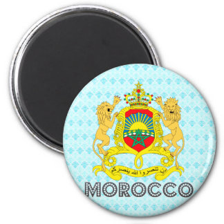 Morocco Coat of Arms 2 Inch Round Magnet