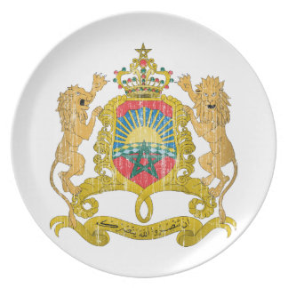 Morocco Coat Of Arms Melamine Plate