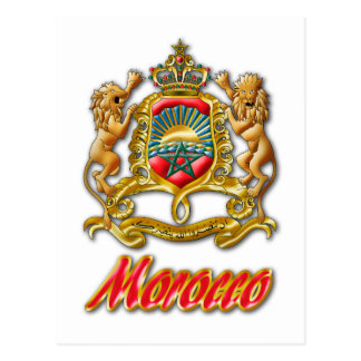 Morocco Coat of Arms Postcard