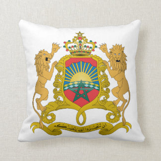 Morocco Coat Of Arms Throw Pillow