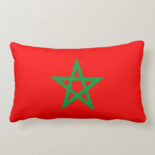 morocco country flag pillow