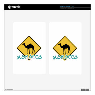 Morocco Decals For Kindle Fire