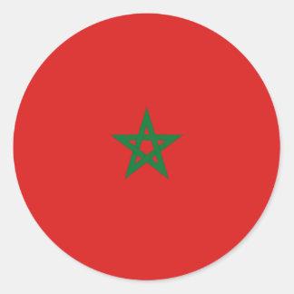 Morocco Fisheye Flag Sticker