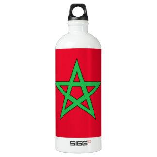 Morocco Flag Aluminum Water Bottle