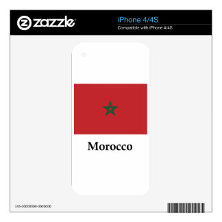 Morocco Flag And Name Skin For iPhone 4S