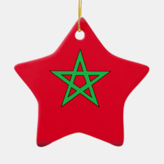 Morocco Flag Ceramic Ornament