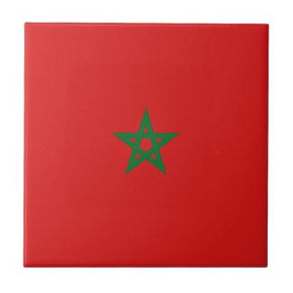 Morocco Flag Ceramic Tile