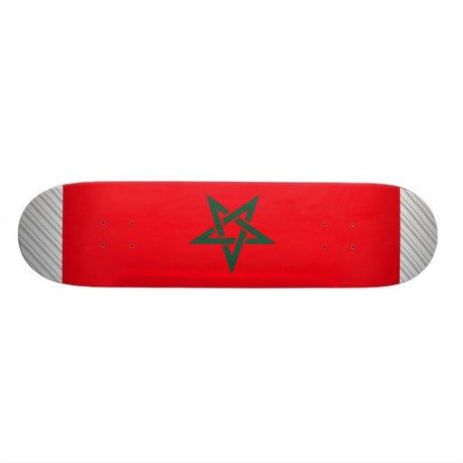 Morocco Flag Custom Skate Board