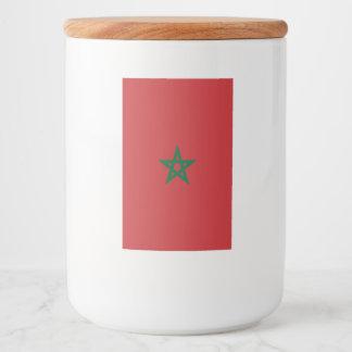 Morocco Flag Food Label