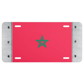 Morocco Flag License Plate