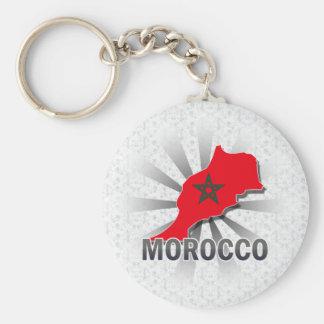 Morocco Flag Map 2.0 Keychain