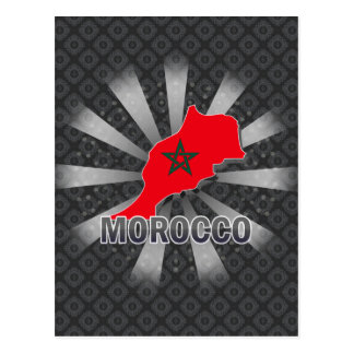 Morocco Flag Map 2.0 Post Cards