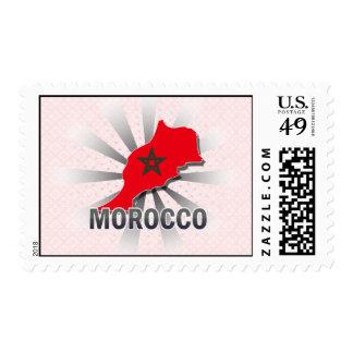 Morocco Flag Map 2.0 Postage Stamp