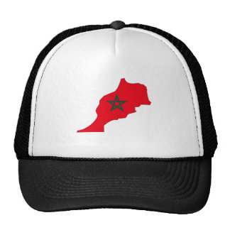 Morocco Flag Map full size Trucker Hat