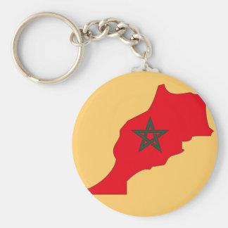 Morocco flag map keychain