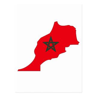 Morocco flag map postcard