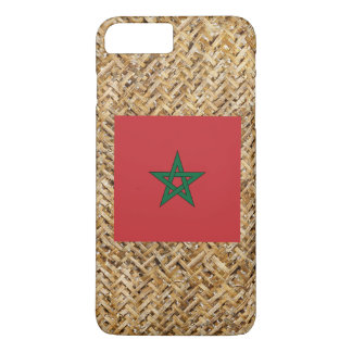 Morocco Flag on Textile themed iPhone 8 Plus/7 Plus Case