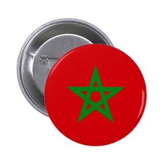Morocco Flag Pinback Button