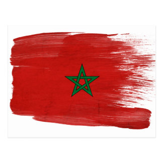 Morocco Flag Postcards