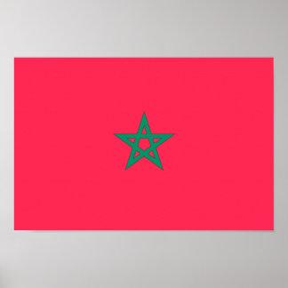 Morocco Flag Poster