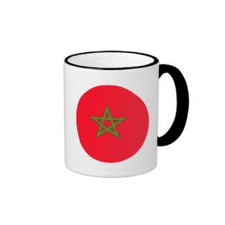 Morocco Flag Ringer Mug