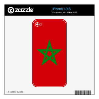Morocco Flag Skin For iPhone 4S