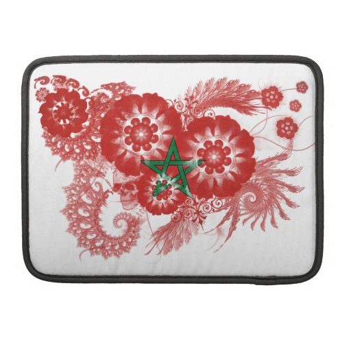 Morocco Flag Sleeves For MacBook Pro