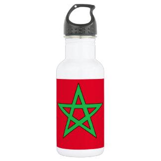 Morocco Flag Water Bottle