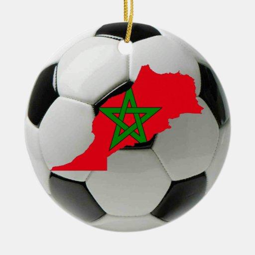 Morocco football soccer ornament