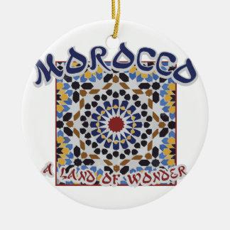 Morocco Land Of Wonder Ceramic Ornament