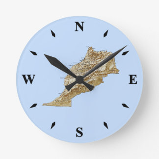 Morocco Map Clock