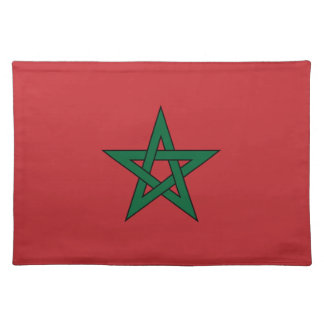 Morocco – Moroccan Flag Cloth Placemat