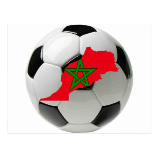 Morocco national team postcard