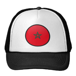 Morocco quality Flag Circle Hat