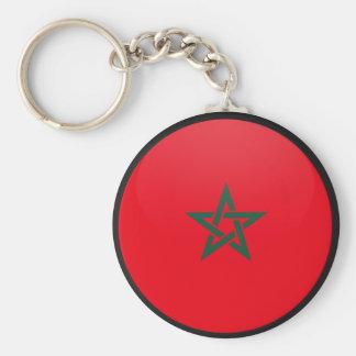 Morocco quality Flag Circle Keychain