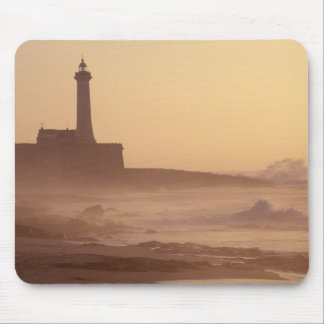 Morocco, Rabat, Lighthouse at sunset with Mouse Pad