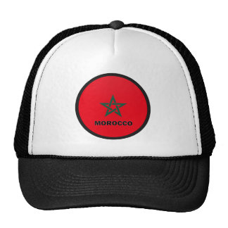 Morocco Roundel quality Flag Mesh Hat