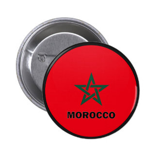 Morocco Roundel quality Flag Pinback Button