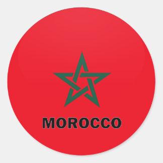 Morocco Roundel quality Flag Classic Round Sticker