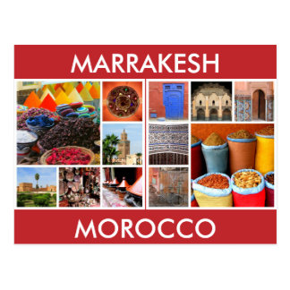 morocco scenes marrakesh postcard