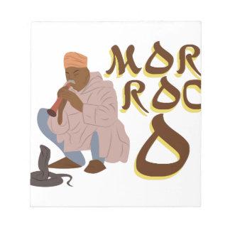 Morocco Snake Charmer Notepad