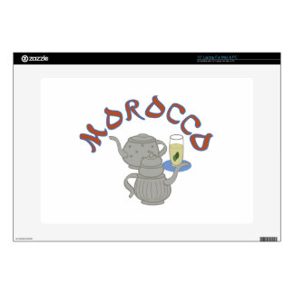 "Morocco Tea Decal For 15"" Laptop"