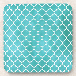 MOROCCO TEAL DRINK COASTERS