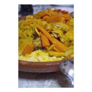 Morocco, Tetouan. Traditional Moroccan meal of Photographic Print