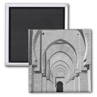 MOROCCO, Tizi, N, Test Pass Road, TIN MAL: 2 Inch Square Magnet